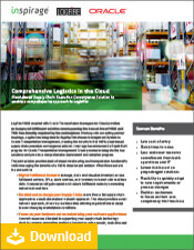 Comprehensive Logistics in the Cloud Datasheet