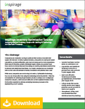 Inventory Optimization Solution Datasheet